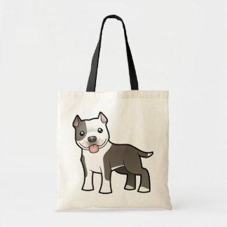 Cartoon Pitbull / American Staffordshire Terrier Tote Bag