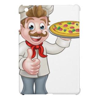 Cartoon Pizza Chef Character Mascot iPad Mini Covers