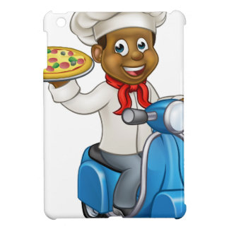 Cartoon Pizza Chef on Delivery Moped Scooter iPad Mini Case