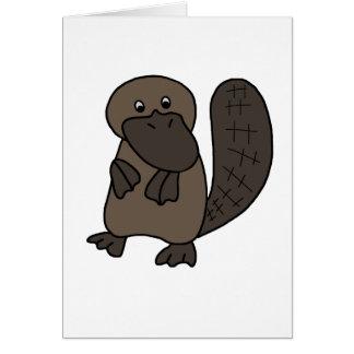 Cartoon Platypus Greeting Card