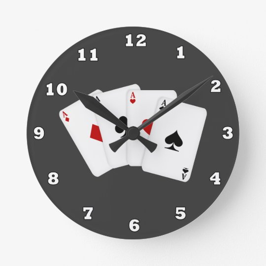 Cartoon Playing Cards wall clock