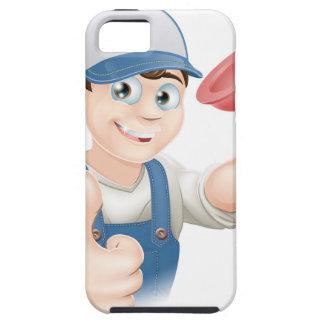 Cartoon plunger man iPhone 5 cover