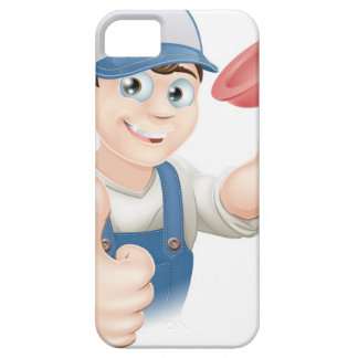 Cartoon plunger man case for the iPhone 5