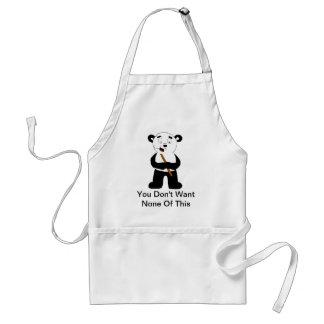 Cartoon Polar Bear Eating Bamboo Standard Apron