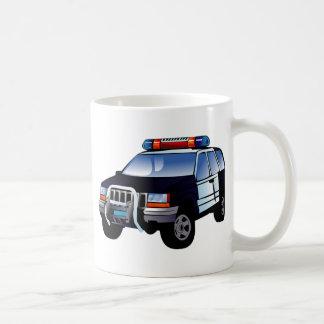 Cartoon Police Car Mugs