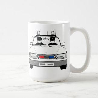 Cartoon Police Car Classic White Coffee Mug