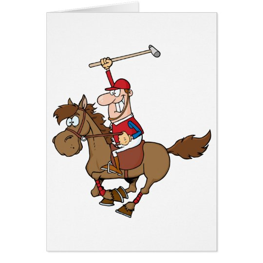Cartoon Polo Player Card