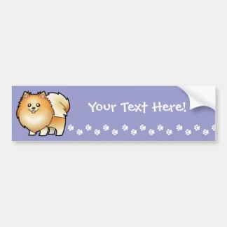 Cartoon Pomeranian Bumper Sticker
