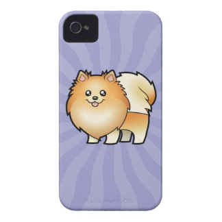 Cartoon Pomeranian iPhone 4 Cover