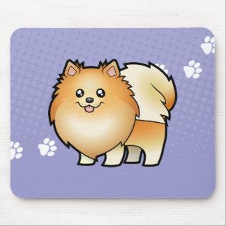 Cartoon Pomeranian Mouse Mat