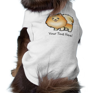 Cartoon Pomeranian Sleeveless Dog Shirt