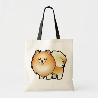Cartoon Pomeranian Tote Bag
