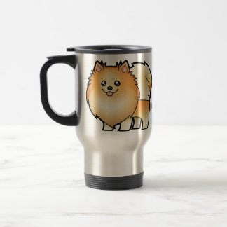 Cartoon Pomeranian Travel Mug