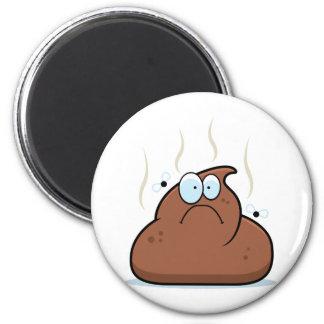 Cartoon Poop 6 Cm Round Magnet