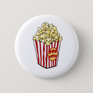 Cartoon Popcorn Bag Button