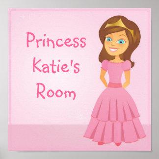 Cartoon Princess Customizable Children's Wall Art Posters
