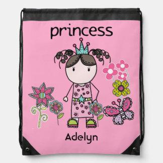 Cartoon Princess Drawstring Bag