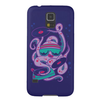 CARTOON PSYCHEDELIC OCTOPUS DJ with Turntable Galaxy S5 Cases