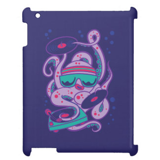 CARTOON PSYCHEDELIC OCTOPUS DJ with Turntable iPad Cases