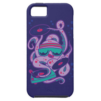 CARTOON PSYCHEDELIC OCTOPUS DJ with Turntable iPhone 5 Cover