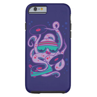 CARTOON PSYCHEDELIC OCTOPUS DJ with Turntable Tough iPhone 6 Case