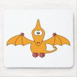 Cartoon Pterodactyl (yellow) Mouse Pad