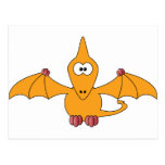 Cartoon Pterodactyl (yellow) Post Cards