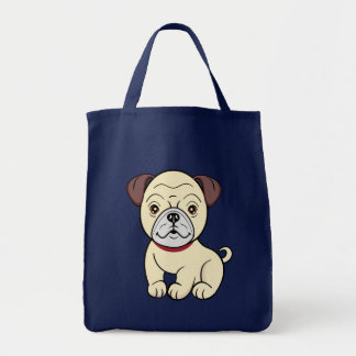 Cartoon Pug Bag