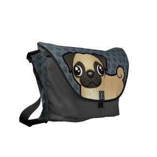 Cartoon Pug Commuter Bag
