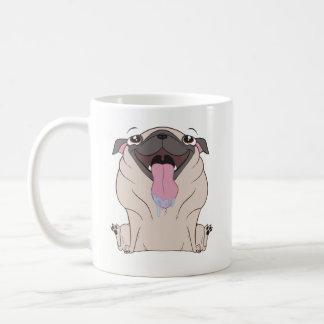 Cartoon Pug Dog Coffee Mug