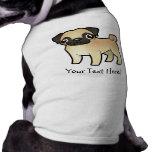 Cartoon Pug Doggie Tee Shirt