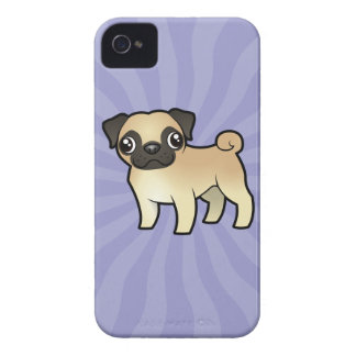 Cartoon Pug iPhone 4 Case