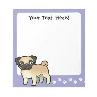 Cartoon Pug Notepads
