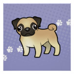 Cartoon Pug Poster