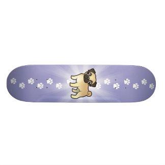 Cartoon Pug Skateboards