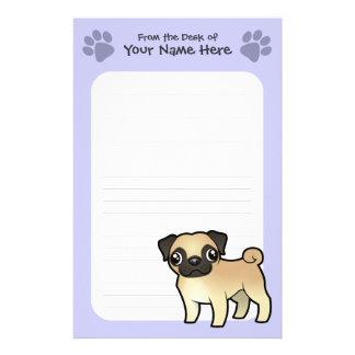 Cartoon Pug Stationery