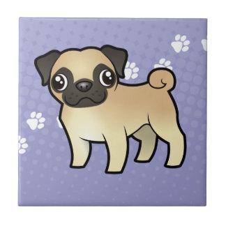 Cartoon Pug Tile