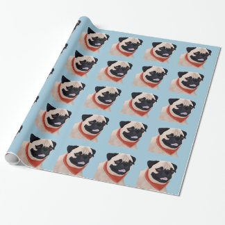 Cartoon Pug Wrapping Paper
