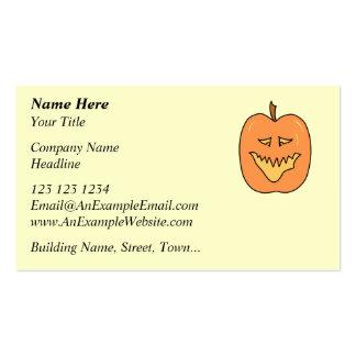 Cartoon Pumpkin. Halloween. Business Cards