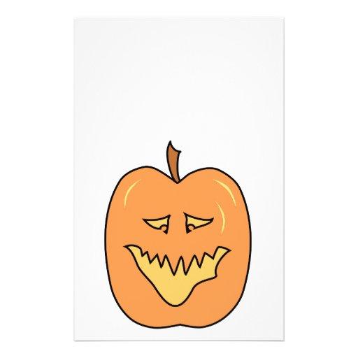 Cartoon Pumpkin. Halloween. Custom Flyer