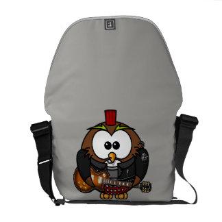 Cartoon punk owl Messenger Bag