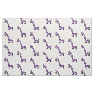 Cartoon purple dinosaur fabric