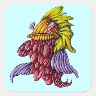 Cartoon purple koi fish stickers