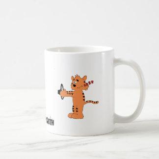 Cartoon Purring Tiger Mugs