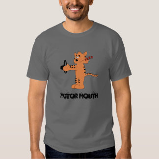 Cartoon Purring Tiger T Shirt