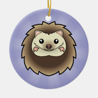 Cartoon Pygmy Hedgehog (add your own message) Christmas Ornament