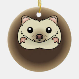 Cartoon Pygmy Hedgehog Christmas Ornament