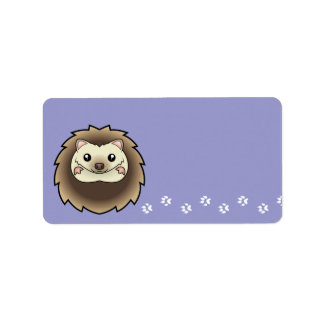 Cartoon Pygmy Hedgehog Label