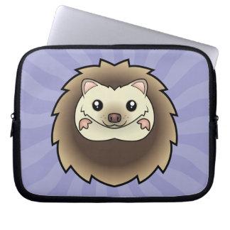 Cartoon Pygmy Hedgehog Laptop Sleeve