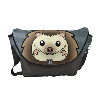 Cartoon Pygmy Hedgehog Messenger Bags